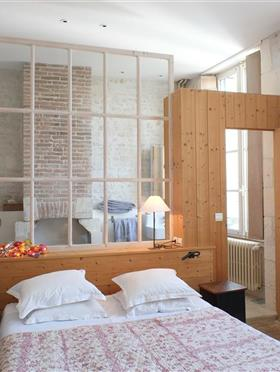 Elegant room with double bed Ile de Ré - Hotel Le Senechal